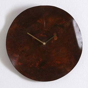 Orologio da Parete diametro 35 cm cassa in Metallo Arrugginito