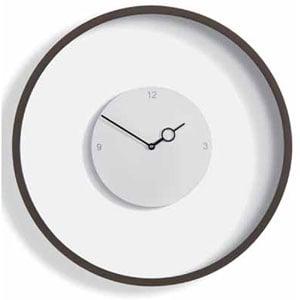 Orologio da Parete TIME diametro 50 con cassa in legno laccato bianco e con quadrante laccato