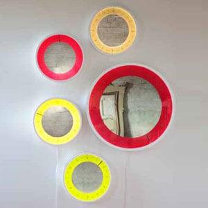 Orologio Solo ora piccolo diametro 50 Orologio-specchio-lampada per rimirarsi in un alone di luce colorata