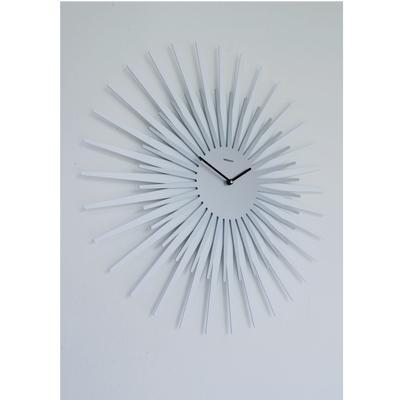 Orologio da parete Sun diametro 55 cm e un orologio da parete con cassa in metallo verniciato colore alluminio