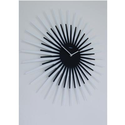 Orologio da parete Sun diametro 55 cm e un orologio da parete con cassa in metallo verniciato colore nero