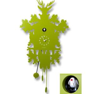 Orologio Cucu Metallo VERDE con cassa in metallo Verde tagliata al laser Diamantini Domeniconi h81x41x9.5