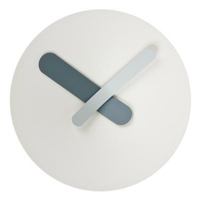 Orologio da parete MOZIA medio Ø40 cm con cassa in alluminio tornito e quadrante conico, bianco
