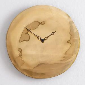 Orologio da Parete cassa in vetro foglia oro Ø 45 design Pascal Tarabay