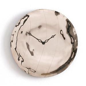 Orologio da Parete cassa in vetro foglia Platino Ø 95 design Pascal Tarabay