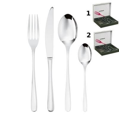 Servizio Posate set da 48 pezzi acciaio inox 18/10 12 posti tavola Monoblocco TASTE inox lucido lavabile in lavastoviglie