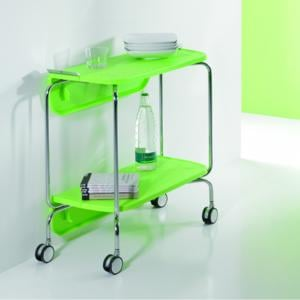 Carrello portavivande richiudibile in ABS richiudibile a meta o completamente SMART Colore Verde