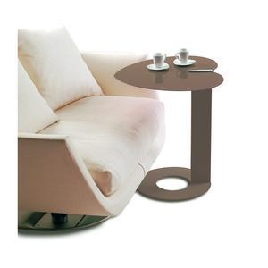 Tavolino multifunzione My Heart 52x54xh60 cm struttura e ripiano colore Tortora sablè