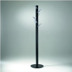 Porta abiti appendiabiti SMARTYN 38x38xh177 cm con struttura colore titanio sable SMARTYN pomoli trasparenti