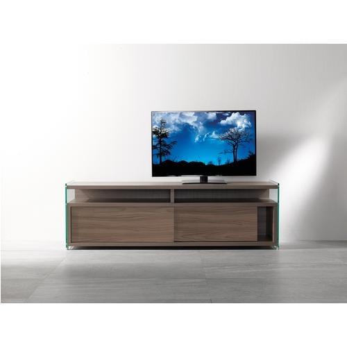 Mobile porta TV con struttura in laminato Ecologico MEDIA 140x39xh48 cm ante scorrevoli