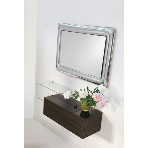 Specchiera rettangolare telaio acciaio cornice vetro finitura cromo CURVO