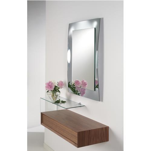 Specchio rettangolare cornice vetro VELA