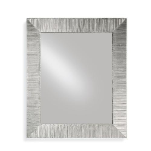 Specchiera rettangolare da parete in legno massello foglia argento DIVA 85x102
