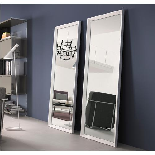 Specchiera rettangolare da terra cornice in alluminio verniciato RIFLESSO 60x170