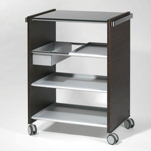 Carrello Multi Funzioni Wengue con ripiani asportabili e intercambiabili Vassoi in alluminio COMBI SERVICE