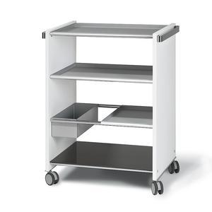 Carrello Multi Funzioni Bianco con ripiani asportabili e intercambiabili Vassoi in alluminio COMBI SERVICE