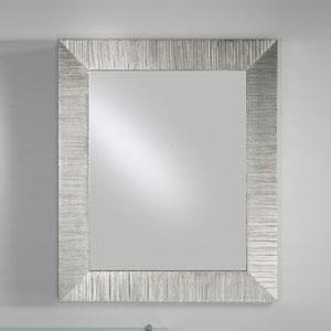 Specchiera rettangolare DIVA 85xh102 cm con cornice in legno decorata a Foglia
