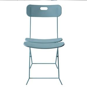 Sedia Pieghevole in Plastica struttura in acciaio verniciato seduta e schienale in plastica Azzurro