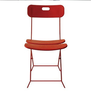 Sedia Pieghevole in Plastica struttura in acciaio verniciato seduta e schienale in plastica