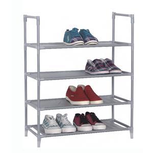 Portascarpe scaffale a 4 piani 60x30xh72 cm colore grigio