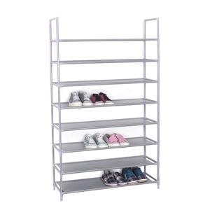Portascarpe scaffale a 8 piani 85x30xh135 cm colore grigio