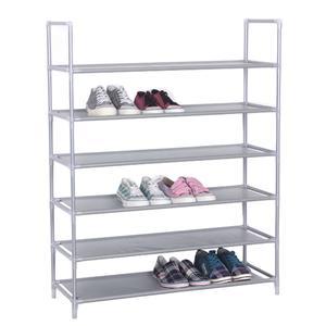 Portascarpe scaffale a 6 piani 85x30xh103 cm colore grigio