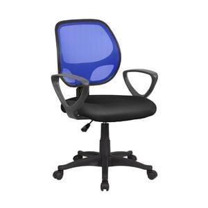 Sedia operativa con Braccioli Atlanta da ufficio 57x55,5xh55-100 cm blu nero