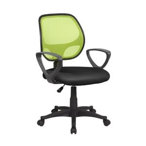 Sedia operativa con Braccioli Atlanta da ufficio 57x55,5xh55-100 cm Verde nero
