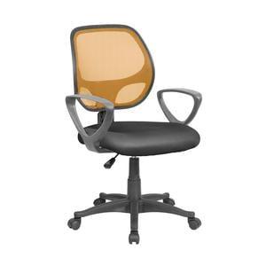Sedia operativa con Braccioli Atlanta da ufficio 57x55,5xh55-100 cm Arancio nero