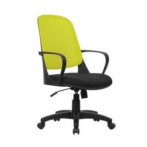 Poltrona operativa con Braccioli Washington da ufficio seduta 48-58 cm nero/verde