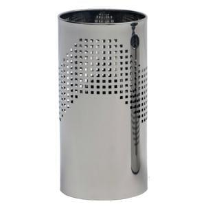 Cestino gettacarta diametro 25xh50 cm Quadrotto in lamiera forata lucido Midi Inox lucido