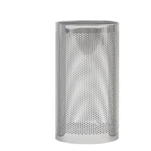 Portaombrelli Forato con Vaschetta raccogli acqua inox 25xh50 cm - L24 inox Satinato