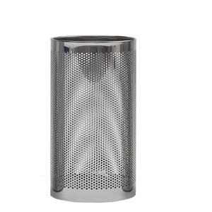 Portaombrelli Forato con Vaschetta raccogli acqua inox 25xh50 cm - L24 inox lucido