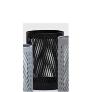 Cestino gettacarta diametro 20xh33 cm - L10 Forato in lamiera forata Mini Nero