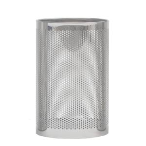 Cestino gettacarta diametro 25xh38 cm - L18 Forato in lamiera forata Standard Inox satinato