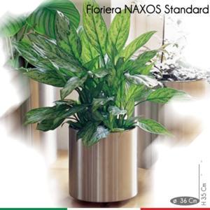 Fioriera Naxos Standard diametro 31xh30 cm - L 21 in Acciaio Inox Aisi 430 inox Satinato