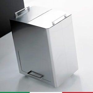 Bidone Pattumiera 55x36xh69 cm - L58 per la Raccolta Differenziata a due contenitori estraibili scomparto inferiore 4 Ruote