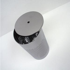 Portabiancheria TWINS diametro 36xh58 cm - L60 Grande in acciaio inox Lucido