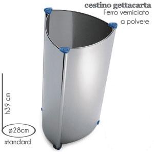 Cestino Standard M.A.C. Ø28x h39cm Silver