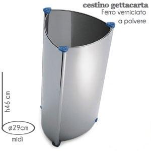 Cestino Midi M.A.C. 29x h46 cm Silver