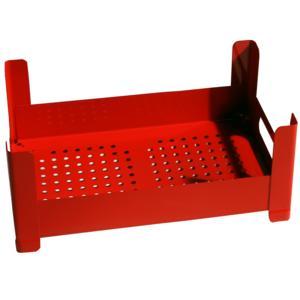 Cassetta Multiuso impilabile 51x31xh18 cm sovrapponibile P.U.B. Box Bassa Colore Rosso