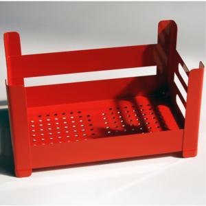 Cassetta Multiuso impilabile 51x31xh26 cm sovrapponibile P.U.B. Box Alta Colore Rosso