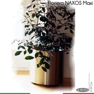 Fioriera Naxos MAXI diametro 40,5xh39 cm - L 49 in Acciaio Inox Aisi 430 inox Satinato