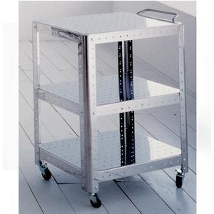 Carrello Multifunzione 47x60xh50 cm Quadra composto da tre ripiani con ruote