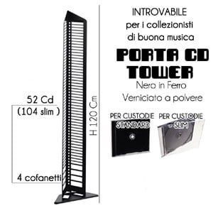 Porta CD Rach Tower 120 nero