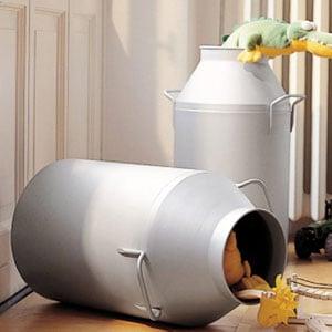 Porta biancheria diametro Ø35xh65 cm Milk Laundry Silver