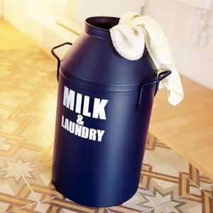 Porta biancheria diametro Ø35xh65 cm Milk Laundry Blu