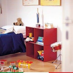 Composizione Cameretta QBO 20 quattro cubi di colore rosso