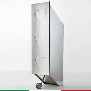 Pattumiera Raccolta Differenziata 32x43xh118 cm - L 42 in acciaio inox Lucido