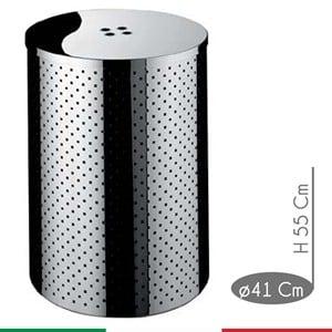 Portabiancheria Taormina Standard diametro 41xh55 cm - L 72 con coperchio in Acciaio Inox Aisi 430